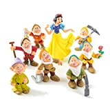 EASTVAPS 8pcs / Set Blancanieves y los Siete enanitos de PVC Figuras Toy Cake Topper Kids Toy...