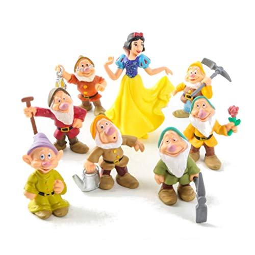 EASTVAPS 8pcs / Set Blancanieves y los Siete enanitos de PVC Figuras Toy Cake Topper Kids Toy Regalos