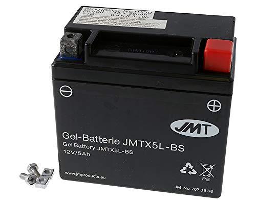 Batterie JMT GEL - YTX5L-BS 12 Volt - Aprilia SR 50 LC Ditech Sport RLB10 Bj. 2001-2003 [ inkl.7.50 EUR Batteriepfand ]
