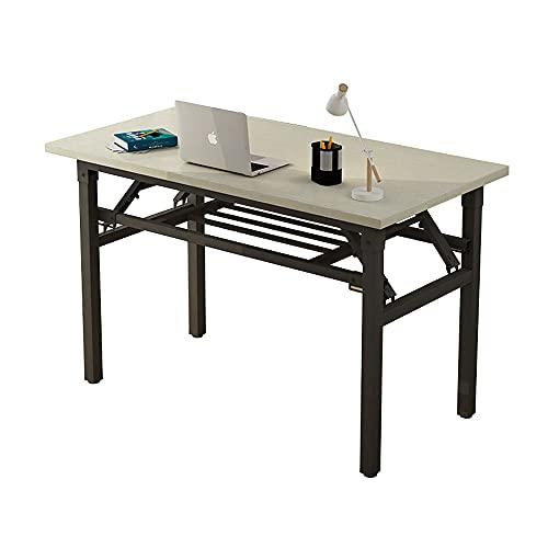 Mesa Plegable Simple, Mesa para computadora, Escritorio para el hogar, Tablero Engrosado, diseño Plegable, fácil Almacenamiento, Soporte de Carga Fuerte