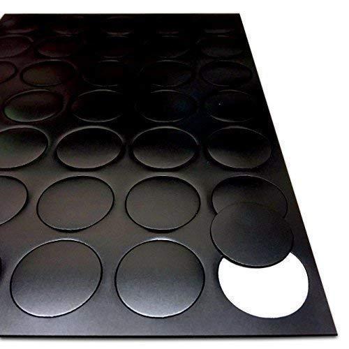 adhésif AIMANTS POUR LOISIRS CRÉATIFS - magnétique Points Cercles Disque Rond - 25mm diamètre [0.85mm épais ] 35 PAQUET - Feu ARTISANAT activités (The Magnet SHOP)