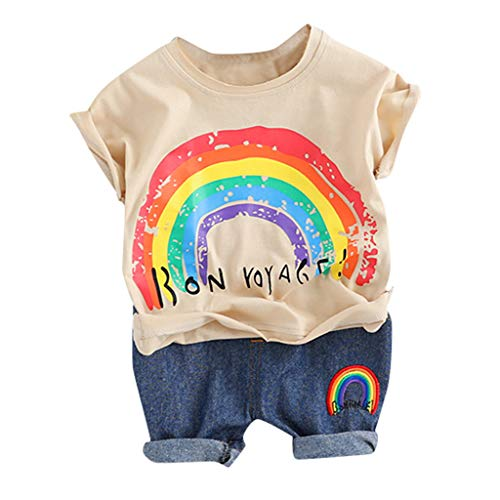 LOPILY Niño Bebé Dibujos Animados Pato Camiseta De Manga Corta para Niños Tops Pantalones Cortos Conjunto De Trajes Casuales