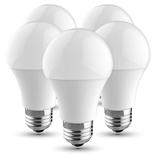 V-TAC Bombilla LED E27, 10 W equivalente a 60 W, 830 lúmenes, Color: Blanca Fria 6500K, 200° - 5 unidades