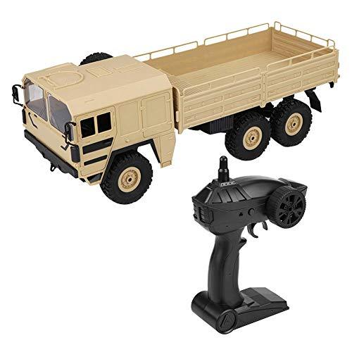 RC Truck Früher, JJRC Q64 1:16 RC 6WD Geländewagen, Fernbedienung Anhänger LKW Elektronik Simulation Transporter Hobby Spielzeug für Kinder Jungen Erwachsene(Gelb)