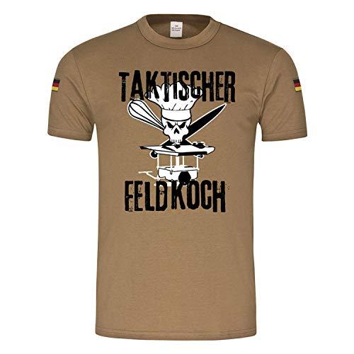 BW Tropen Taktischer Feldkoch Feldküche Bundeswehr Essen Chefkoch Versorger EPA Nachschub T-Shirt#23618, Größe:XL, Farbe:Khaki