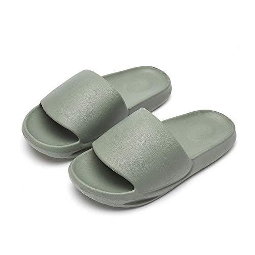 Cxypeng Sabots Chaussure Plage Vacances,Nouvelles Pantoufles de Plate-Forme de Couleur Unie de Printemps et d'été, Sandales de Salle de Bain antidérapantes-Army GRE,Sandales de Salle de Bains Piscine