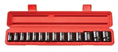 TEKTON 4816 1/2-Inch Drive Shallow Impact Socket Set