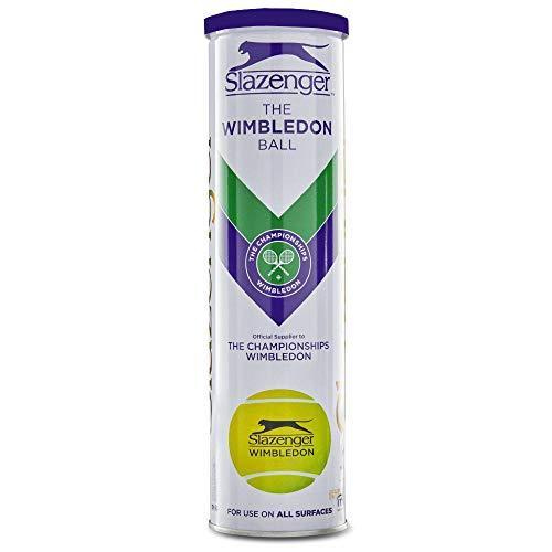 Wimbledon Slazenger Championships TENNIS PALLE 4 PALLE BIANCO & ORO LATTA