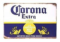 ブリキ看板 ビール コロナビール インテリア ポスター 生ビール マーク エンブレム 雑貨 サインボード サインプレート アート アメリカン雑貨 店舗用