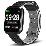 DoSmarter Surpro Fitness Watch, Wearable Activity Tracker Running Watch with Heart Rate Monitor, Waterproof Smart Wristband Pedometer Watch for Kids Woman Man, Grey