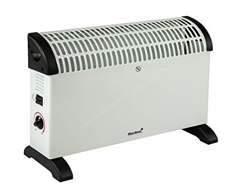 MaxxGarden - Konvektor Heizung Elektrisch Mit 3 Wärmeeinstellungen - 2000 Watt Elektrische Heizung Heizt Bis Zu 55m² Für Wohnzimmer, Badezimmer & Schlafzimmer - Radiator Elektro Heizkörper - Weiß