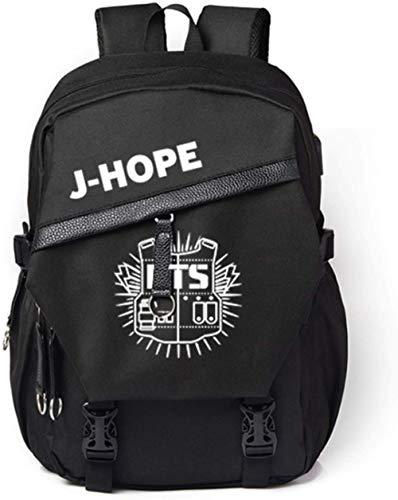 Augyuess Kpop BTS Bangtan Jungen Rucksack DSA-1DA-ESA College Bag Schultasche mit USB-Ladefunktion Daypack Laptoptasche