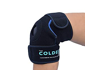 The Coldest Knee Ice Pack Wrap, Hot and Cold Therapy - Reusable Compression Best for Meniscus Tear, Injury Recovery, Bursitis Pain Recovery, Sprains, Swelling and Rheumatoid Arthritis (Knee Ice Pack) by The Coldest Water