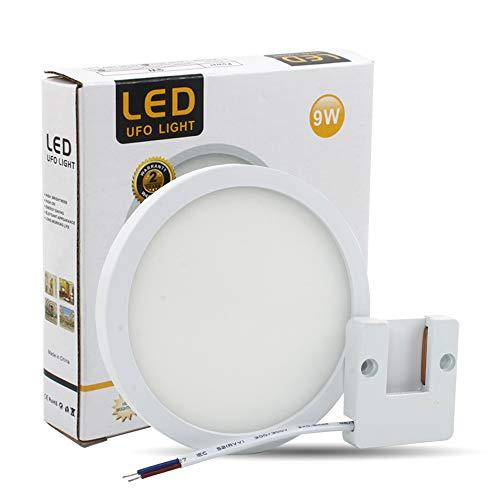 VIPMOON Plafoniera da soffitto 9W LED Lampada impermeabile a sottile Bianco naturale 6500K per Sala da pranzo Bagno Camera da letto Cucina Balcone Corridoio[Classe di efficienza energetica A++]