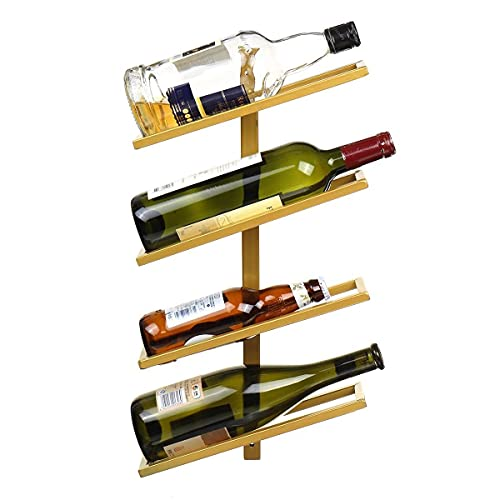 Botellero Para Vinos,Botellero Moderno Plancha de vino montado en la pared Soporte de vino Montado en la pared Decoración de la barra de vino Copa de vino Colgante de la colgante Organizador de almace