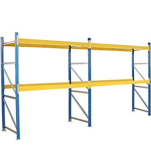 Palettenregal mit 4 Paar Tragbalken, HxBxT 3000x5710x1100 mm, Fachlast 2600 kg/Tragbalkenpaar