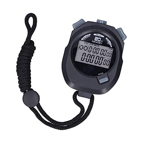Stoppuhr-Timer Sport, 1/100 Sekunde Digitaler Sport-Stoppuhr-Timer, Hochgenaue Elektronische Sport-Stoppuhr, Multifunktions-Stoppuhr mit 12/24-Stunden-System, für Sportschiedsrichter