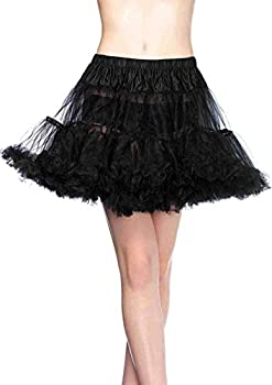 Leg Avenue Women s Layered Tulle Petticoat Black O/S