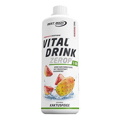 Best Body Nutrition Vital Drink ZEROP® - Kaktusfeige, zuckerfreies Getränkekonzentrat, 1:80 ergibt 80 Liter Fertiggetränk, 1000 ml