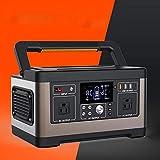 FOLVXY Central Eléctrica Portátil De 500 W, Batería De Litio De Repuesto, con 3 Hebillas USB Y Puerto Type-C, Utilizada para Viajes Al Aire Libre Y Emergencias En El Hogar