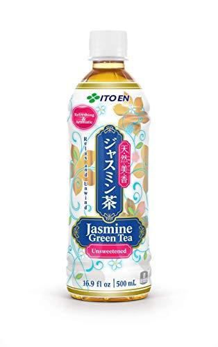 ITO EN grüner Jasmin Tee, ungesüßt, leckere Kombination aus grünem Tee aus ausgelesenen Teeblättern und Jasmin Blüten, fertig gekochter Tee in praktischer Flasche, vegan und glutenfrei (1 x 500 ml)