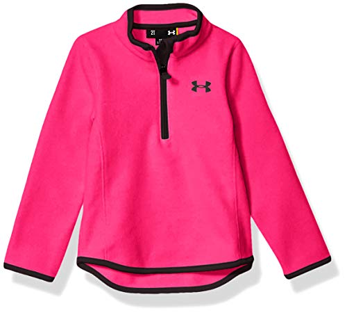 Under Armour Girls' Little 1/4 Zip Long Sleeve Pullover, Pinkadelic F191, 5