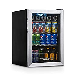 NewAir AB-850 Beverage Cooler and Refrigerator, 90-Can Capacity, Stainless Steel