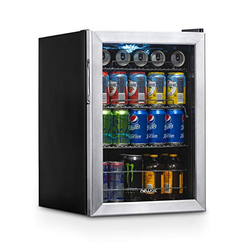 NewAir Beverage Refrigerator Cooler with 90 Can Capacity ...