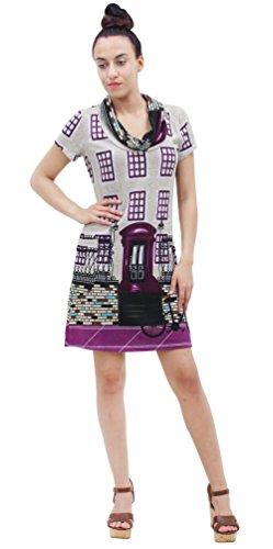 Purplish Strickkleid British Phone Box Dress 7094 Grau XL