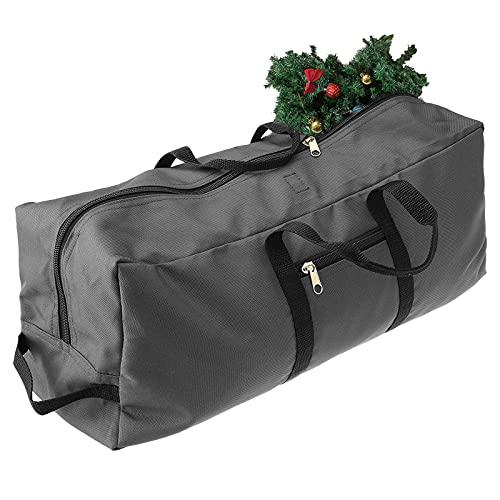 Foxorex Bolsa de almacenamiento para árbol de Navidad, material Oxford 600D resistente, asas reforzadas duraderas, cremallera, impermeable