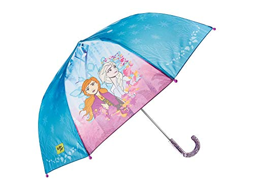 Brand New Girls Licensed Disney Frozen Elsa And Anna Hook Handle Umbrella