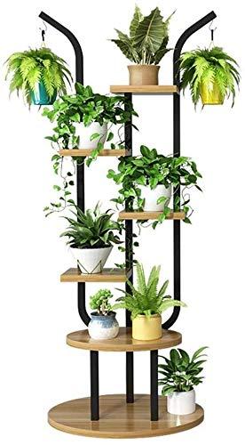 Macetero alto soporte plantas Planta de puestos de flores Soporta múltiples funciones de la maceta del puesto de flores de la planta del soporte del marco de suelo de acero SucculentsOval Base de la s