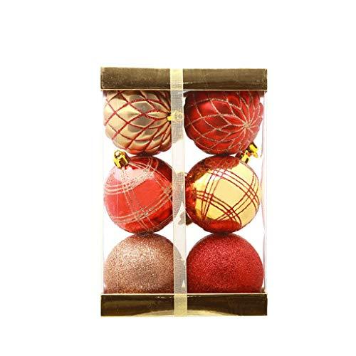GCX Ciondolo Decorazione dell'albero di Natale Decorazione 7 Centimetri Palla di Natale Storefront Natale Squisito (Color : C, Size : 14 * 14 * 21cm)