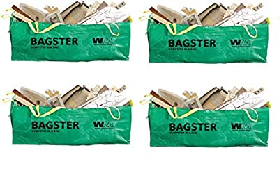 BAGSTER 3CUYD Dumpster in a Bag Holds up to 3,300 lb, Green (F?ur ???k)