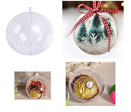 Rhinestone Paradise 30 x 5 cm transparante kunststof ballen knutselballen acryl bal acryl bal acryl ballen 5 cm 50 mm kerstballen ophangen bal bal bal vulbaar Partydecoratie doorzichtig