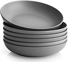 Y YHY Pasta Bowls Set of 6, Salad Serving Bowls Large, Ceramic Soup Bowls 30 Ounces, Porcelain Pasta Bowls and Plates...