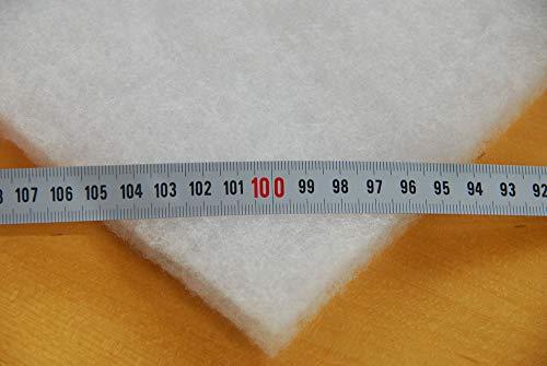 Impexso Volumenvlies Vlieswatte Diolen Polsterwatte viele Breiten lieferb. (450g/m² 50mm dick, Vliesbreite 1,50m)