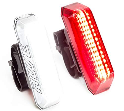 AWE Awelarmtm 30 x Awe LED da 80 decibel allarme USB ricaricabile bicicletta set luce 160 lumen estremamente luminoso