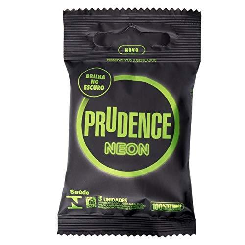 Preservativo Prudence Neon Brilha No Escuro - 3 Unidades