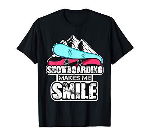 Lächeln Snowboard Geschenk Snowboardfahrer Snowboard T-Shirt