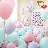 Globos de corazón, 100 Piezas Globosde corazón Premium,Globo de corazón de látex, Globos de corazón de 12 Pulgadas para Compromiso de Boda Día de San Valentín (Color aleatorio)