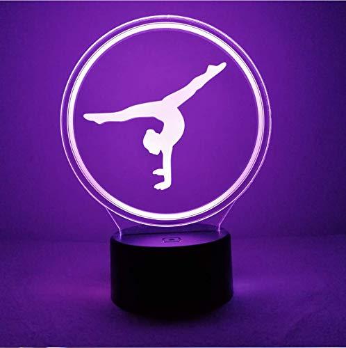 Creativo 3D Gimnasia Luz Nocturna ilusión Optica Lámpara 7/15 Colores Cambiantes Control Remoto USB Power Juguetes Decoración Navidad Cumpleaños Regalo