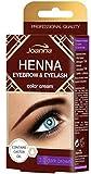 Henna Kit Teinture Semi Permanente Cils et Sourcils Préparation au Henné Naturel Brun Foncé à L'Huile de Ricin 15 ML