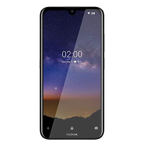 "Nokia 2.2- Smartphone de 5,71"" (Quad-Core 2.0 GHz, 2 GB de RAM, 16 GB de Memoria Interna, cámara de 13+5 MP, Android One 9 Pie, Color Negro"