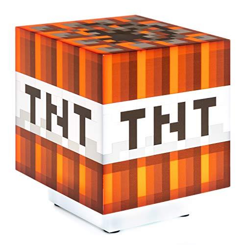 Minecraft TNT Unisex Lámpara de mesa multicolor, Plastico,