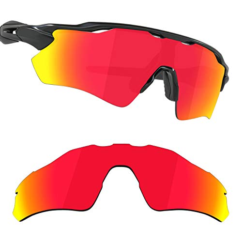 Guarda TRUE POLARIZED Replacement Lenses for Oakley Radar EV XS Path Sunglasses - Fire Red