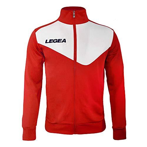 LEGEA M1110, Ropa Deportiva para Hombre, Hombre, M1110, Rosso/Bianco, L