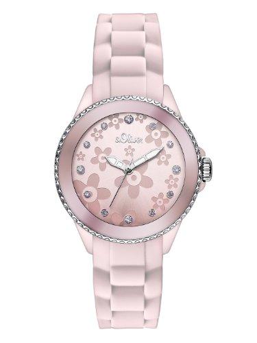s.Oliver Damen-Armbanduhr XS Analog Quarz Silikon SO-2567-PQ