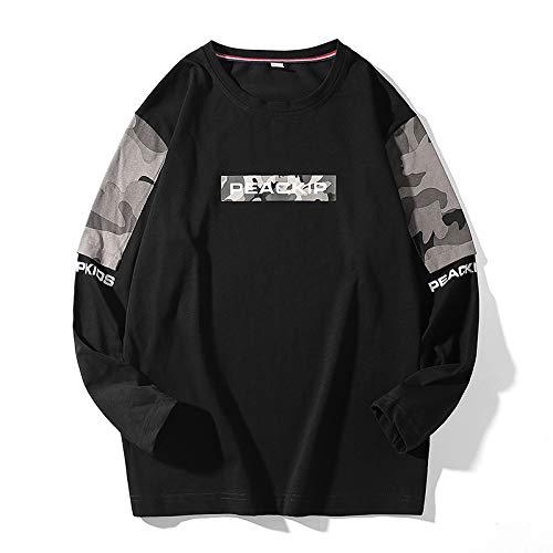 HOSD Camiseta de Manga Larga Personalizada de Camuflaje Ropa de algodón para Hombres Camiseta de Manga Larga Suéter