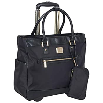 Kenneth Cole Reaction Runway Call Nylon-Twill Laptop & Tablet Business Travel Black Wheeled Tote One Size